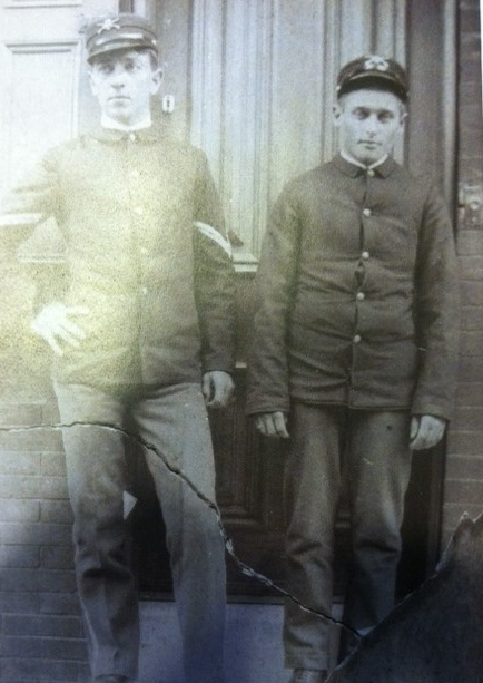 Mr. Kelly's Great Grandfather (on left) before the Spanish American War