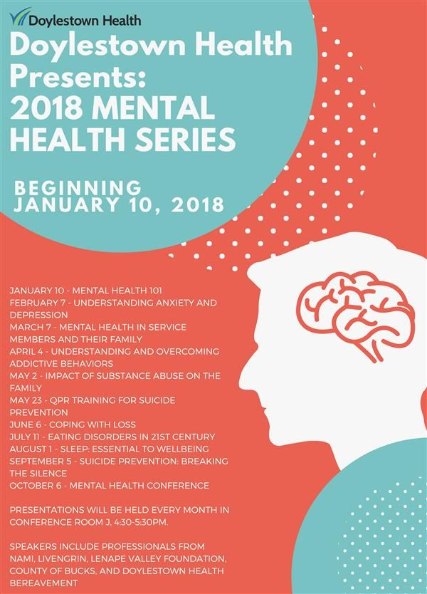 Doylestown Health Presents 2018 Mental Health Series