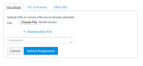 Submitting a file