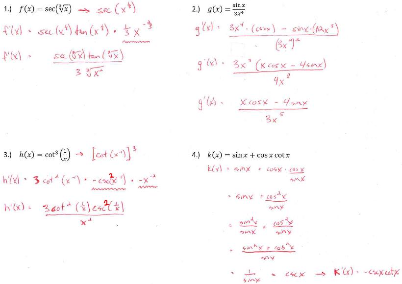 Wetzel, Gregory / Calc 1 Unit 3: Derivatives