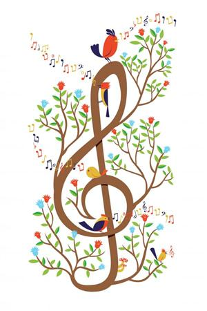 Treble Clef Birds