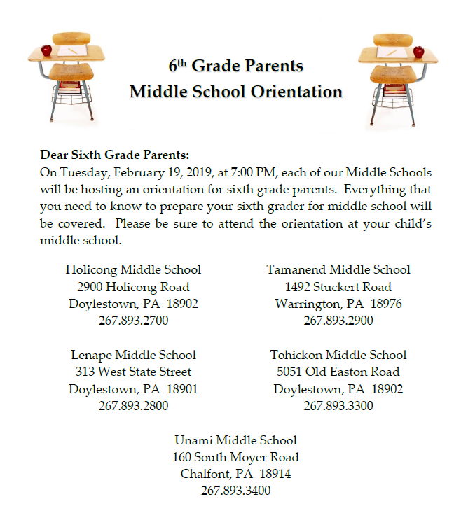 6th Grade Parent Flyer