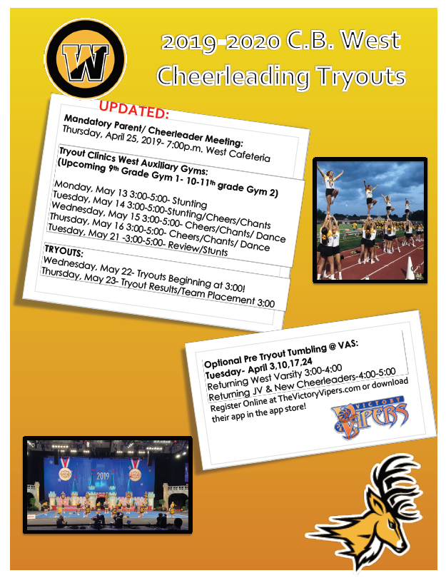 CB West Cheerleading Tryouts