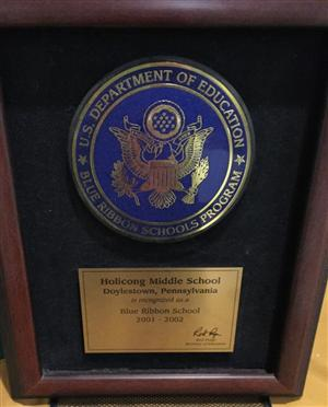 National Blue Ribbon Plaque