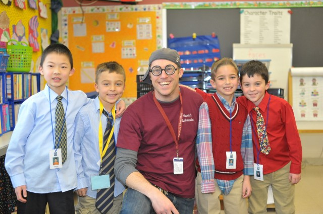 Mr. Watters with students