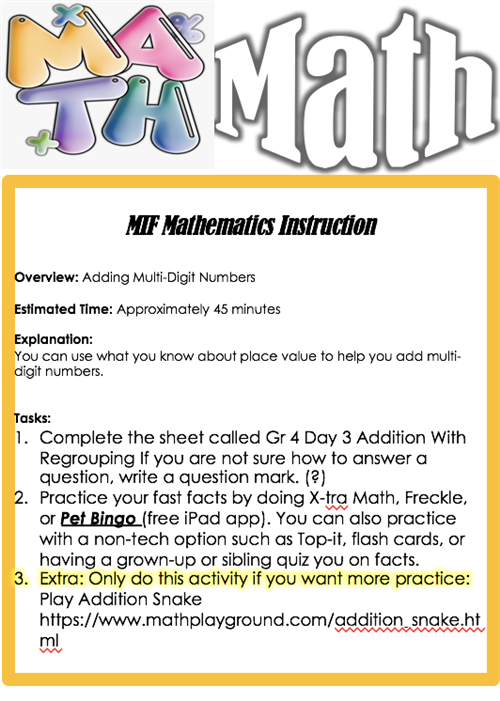 Math Day 3