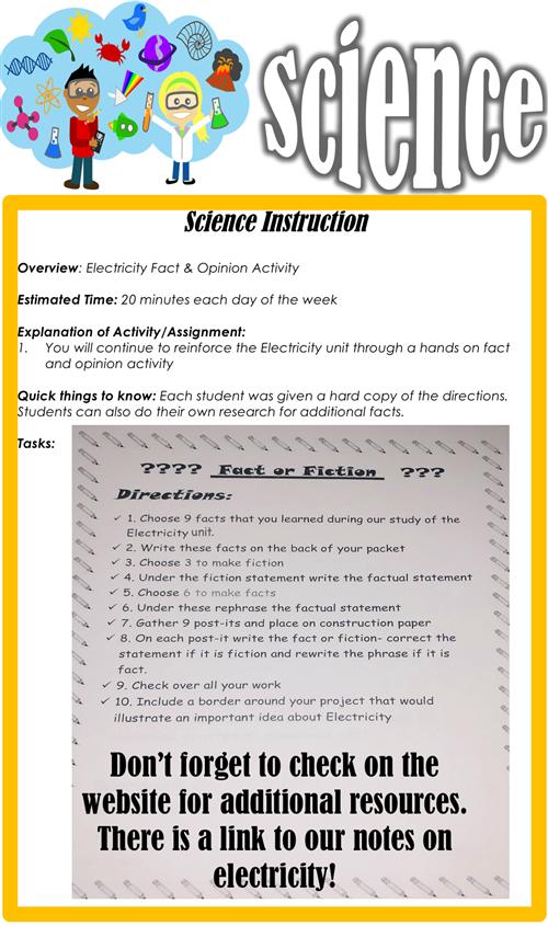 Science- Monday