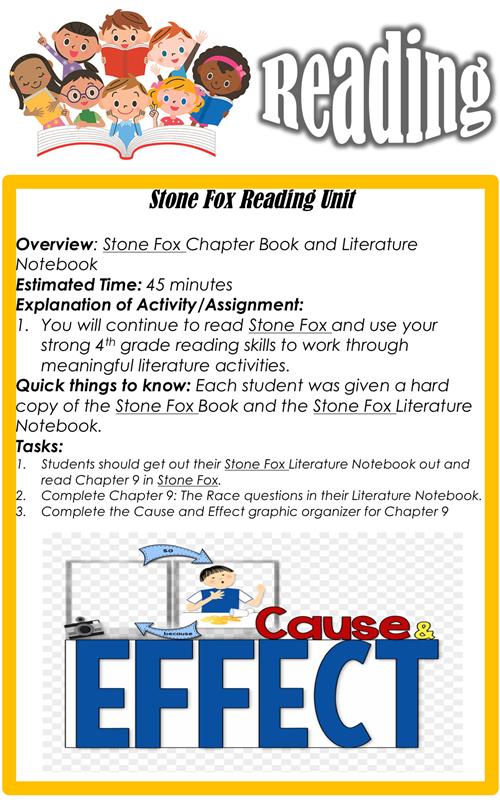 Reading- Tuesday