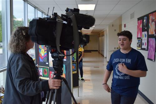tamanend student is interviewed by FOX 29