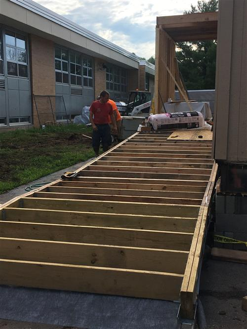 building the walkway