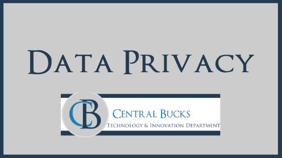 """data privacy"" with central bucks logo"
