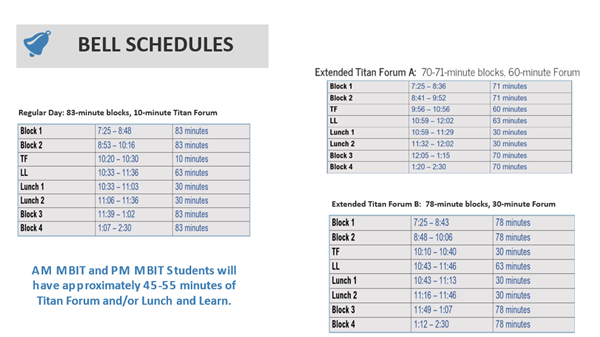 lunch and learn bell schedules