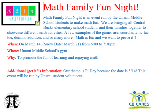 family fun night event flyer