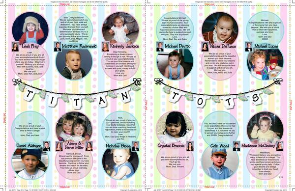Yearbook / Examples of Layouts